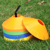 plastic sports training marker cones with holes soccer