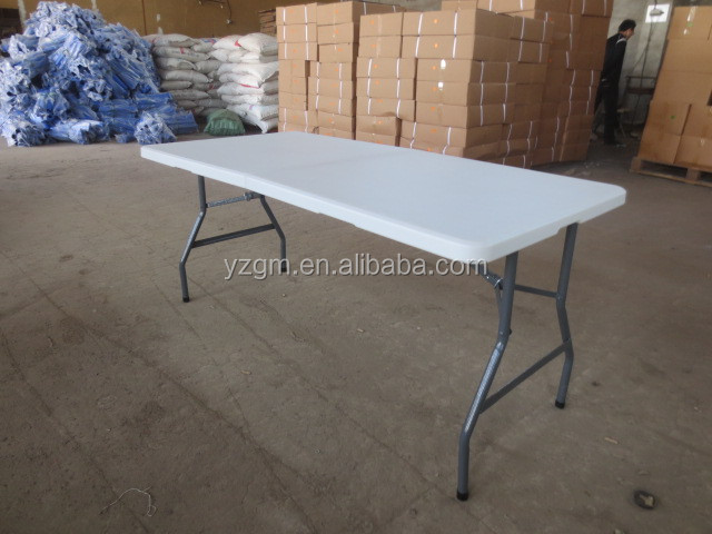 Commercial plastic table and chair for event, plastic folding table, factory supply catering table, YZ-Z152N