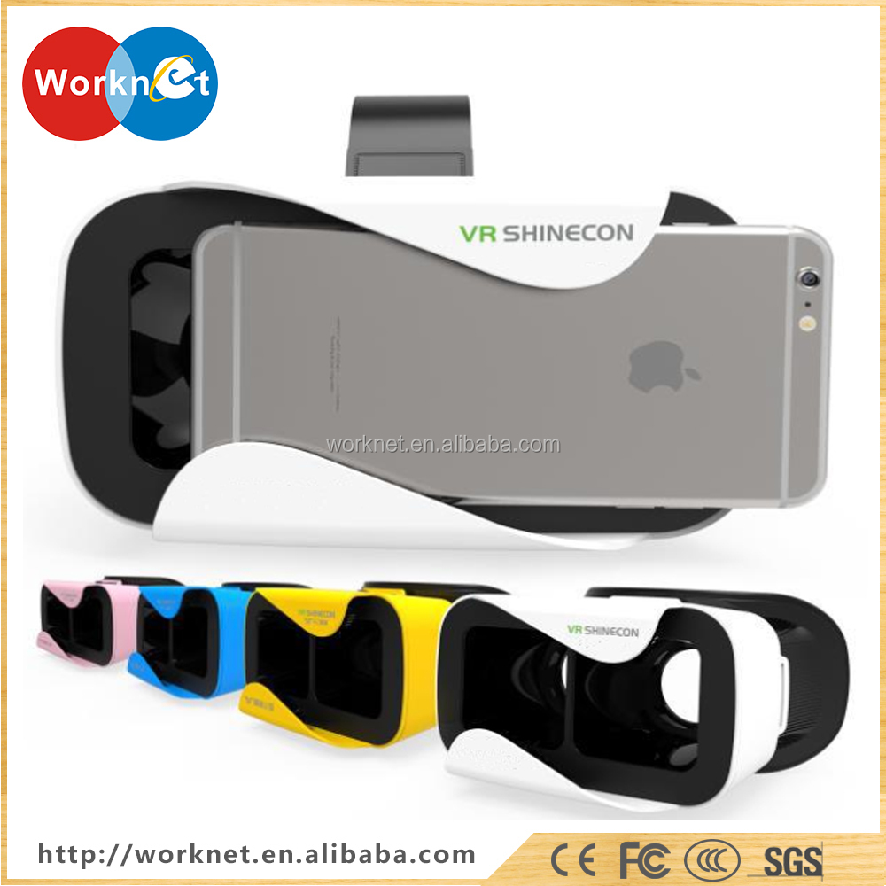 Shenzhen factory promotion best selling 3rd generation <strong>video</strong> 3nd generation vr shinecon 3d glasses for smart phones