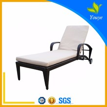 Commerical Rattan sun loungers patio sunbed covers