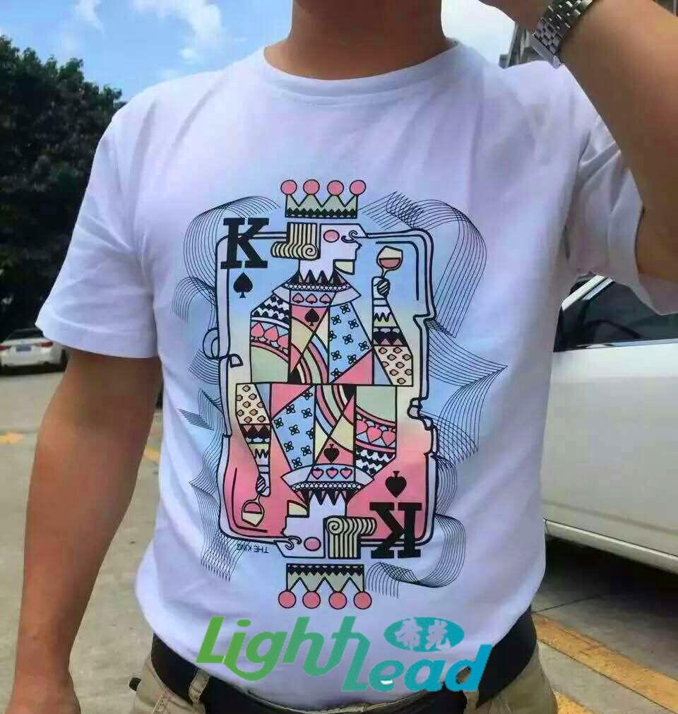 2017 New Photochromic Color Change T Shirt Oem T Shirt Photochromic