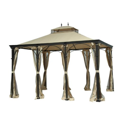 Cheap Camelot Regency Round Gazebo Replacement Canopy