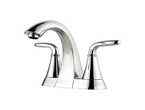 Price Pfister F-048-PD Pasadena Centerset Two Handle Bathroom Faucet, 4 Inch, Chrome Finish