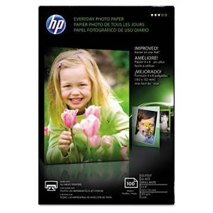 HP - Everyday Glossy Photo Paper, 53 lbs., 4 x 6, 100 Sheets/Pack CR759A (DMi EA