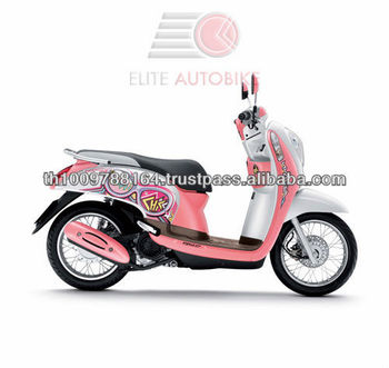 Scoopy i girl 39 s beautiful pink and white gas motor scooter for Where can i buy a motor scooter