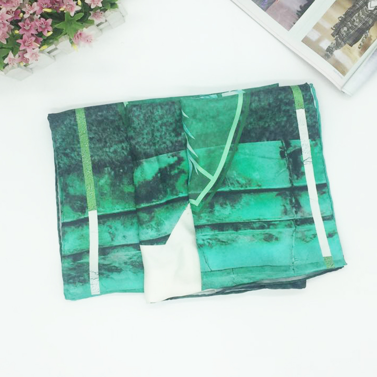 Wholesale China Silk Twill Scarf 100*100 Custom Digital Print
