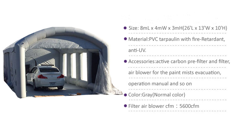 Hot sale 2019 outdoor portable inflatable garage tent, inflatable paint booth with wholesale price cheaper