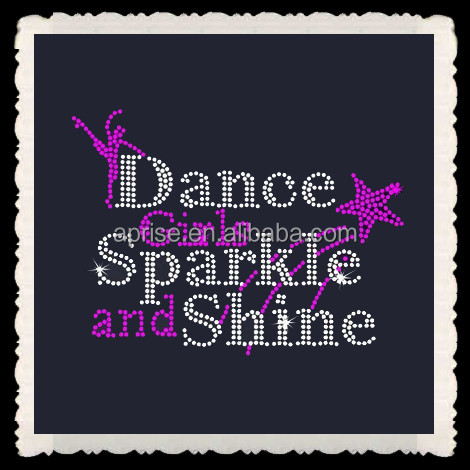 Aprise - Dance girl Sparkle and Shine stars hotfix rhinstone heat transfers iron on