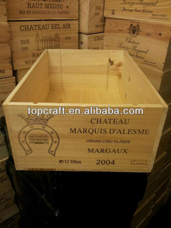 vintage wooden wine crate for sale