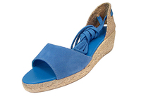 Weave back wedge sandal with lace hemp rope summer wedge shoes 2014