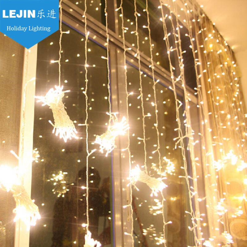 multicolor led decoration curtain lights for party