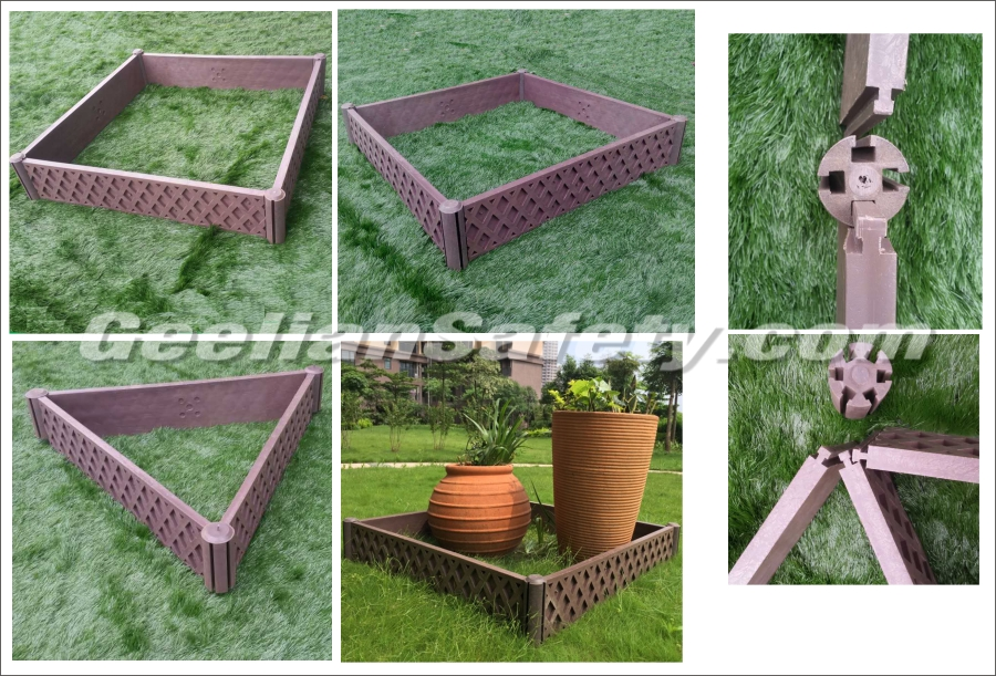 Brushed recycled square flowerpot plastic planter boxes square flower pot