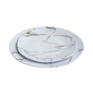 Best selling elegant moroccan violet floral decorative melamine plates wholesale