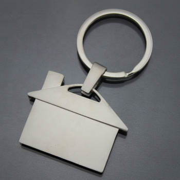 Personalized Metal Custom Logo Blank House Home Keychain