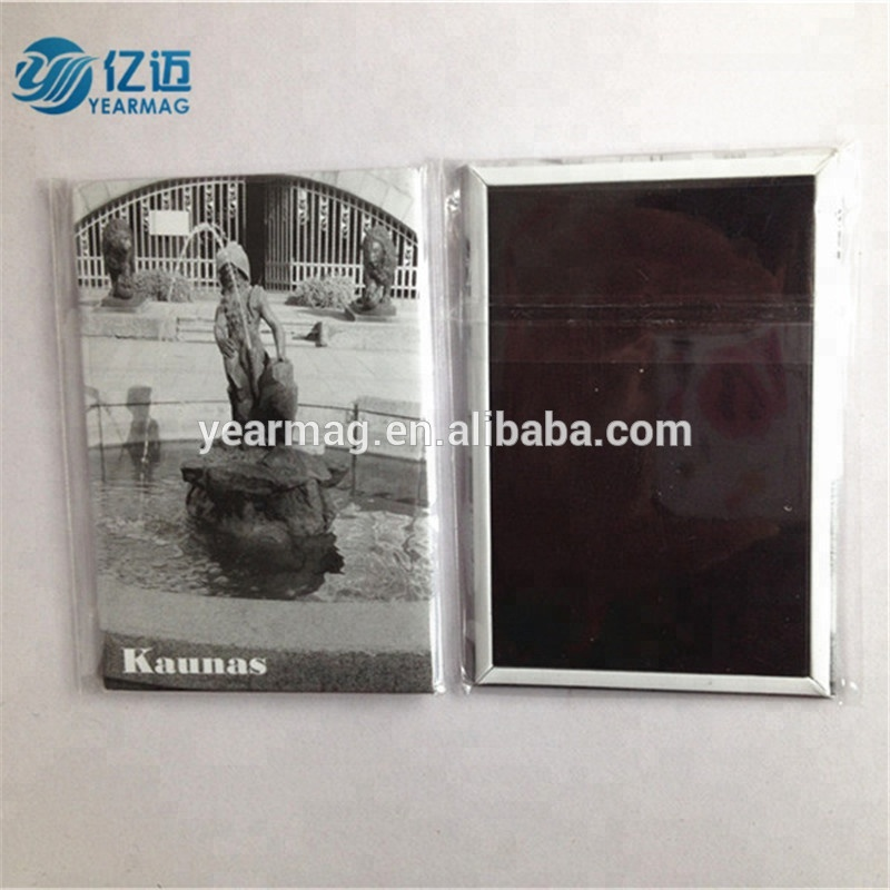 Custom Tourist Souvenir Metal Plate Tin Fridge Magnets on Refrigerator for Home Decoration