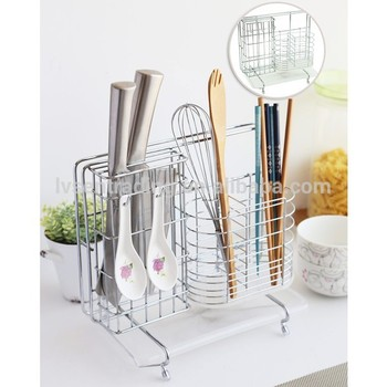 chrome plate stainless steel metal wire kitchen utensil holder  sc 1 st  Alibaba & Chrome Plate Stainless Steel Metal Wire Kitchen Utensil Holder - Buy ...