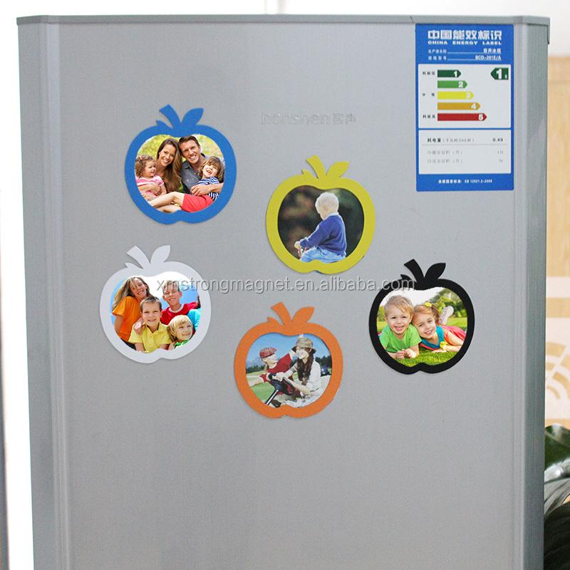 Apple Shape Picture Frames Fridge Magnets Refrigerator Decor