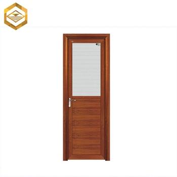 Swing Aluminum Half Bathroom Glass Kitchen Door Design