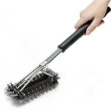 YMG225 Hot selling on amazon stainless steel 201 PP handle bbq grill brush 3 in 1 grill brush