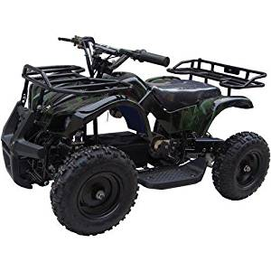 CR_Electronics Sonora Green camo 350W (Brush Motor) Electric ATV Ride on Toys, Ages 6 - 8