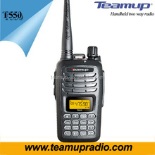 Hot sale Teamup T550 5 watts walkie talkie VHF/UHF única banda walkie talkie