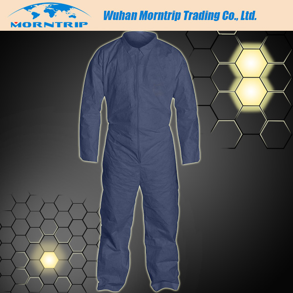 Nonwoven disposable PP coverall with boot and hood( CE, ISO, FDA certified)