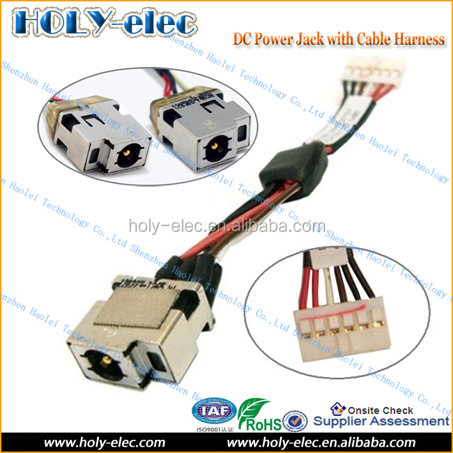 DC Power Port Jack Socket and Cable Wire for HP Compaq Folio 13-1029WM (PJ568)