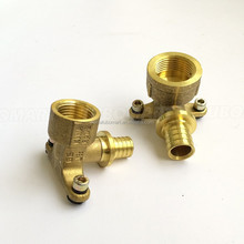Rehau brass wall mounted female elbow of pex brass fitting for pex pipe