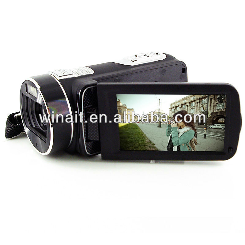 HD720P 3.0'' TFT LCD digital video camera with LED light