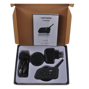 Hot Sale Products Motorcycle Bluetooth Interphone/Intercom V6 up to 1200 Meter 6 Riders Bluetooth Helmet Intercom