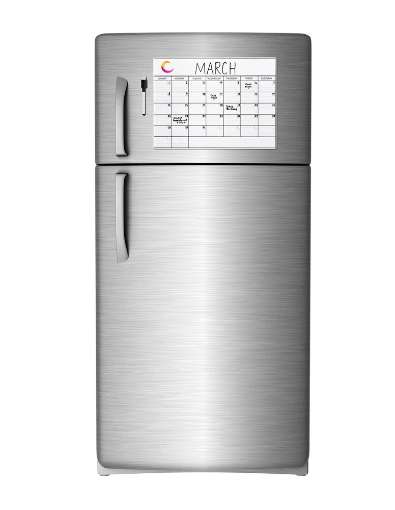 Weekly Refrigerator Calendar : Monthly magnetic calendar for refrigerator write and wipe