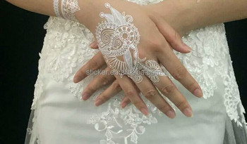 New Design White Henna Lace Tattoo Sticker For Wedding Or Party