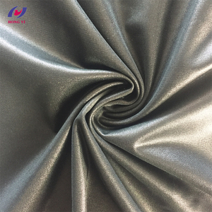 Custom Printed Silver Polyester Plain Tricot Coated PU Fabric