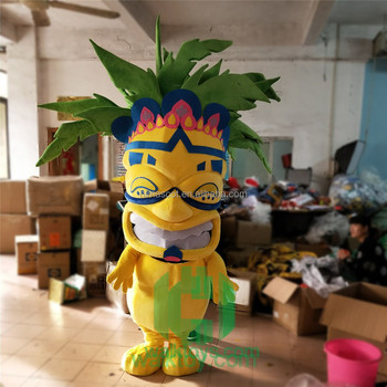 HI EN71 funny fancy dress mascot costume for adult size with big smile,plush mascot costume with high quality