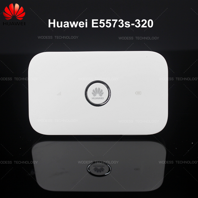 Original Unlock Huawei E5573 150mbps 4G LTE WiFi Router with 1500mAh Battery Mobile WiFi with Antenna Port (e5573s-320, Black/white