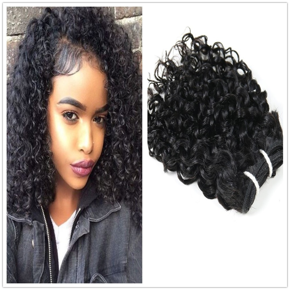 Indian Jerry Curl Weave Human Hair Unprocessed Virgin Indian Remy Curly Hair Bundles Extensions