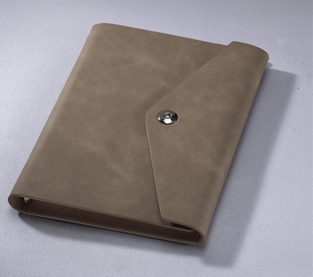 soft rough surface document design leather a3 a4 a5 cardboard cover notebook