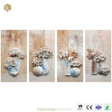3d Handmade Flower Fashion Oil Painting Wall Decoration Y36050