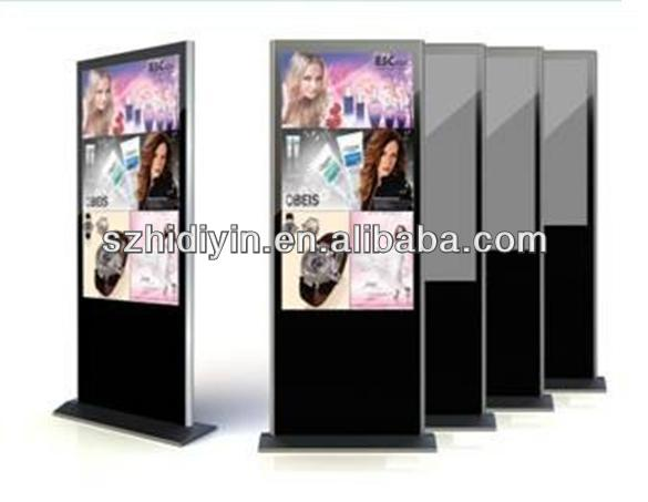 19/32/37/42/46/55/65 free standing 55inch lcd tv display screen, advertising player
