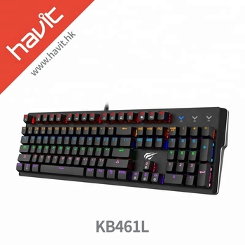 a3b9b6eb25e HAVIT KB461L Computer Gaming Keyboard LED Game Keyboard With Rainbow  Backlight