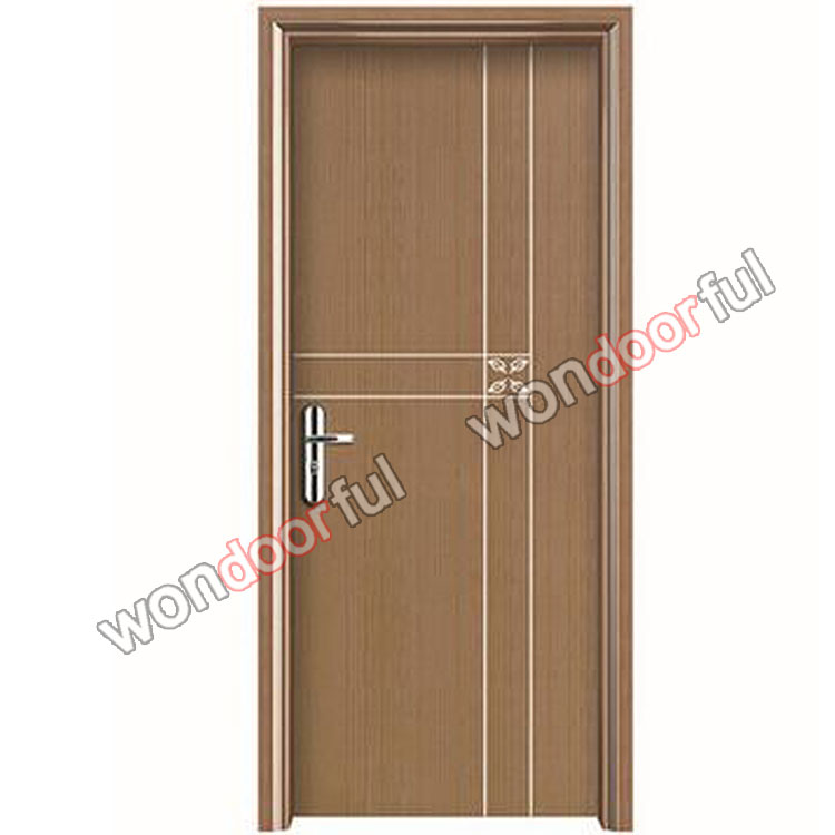 wooden style waterproof fire-resistant wpc painting never fade door