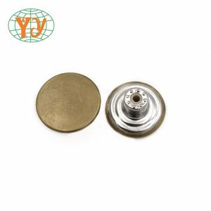 17mm jeans buttons and rivets shank jeans button metal buttons for jeans