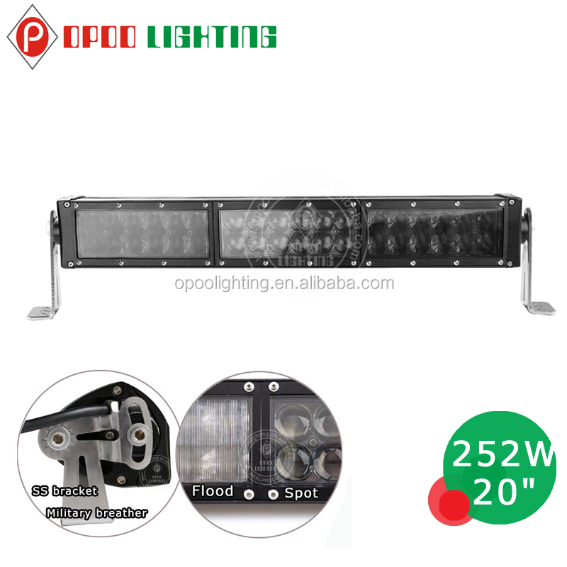 Top quality wholesale 20 inch 252w 4D led light bar for off road