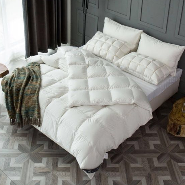 White Goose Feather And Down Quilt 13.5 Tog King Size 230x220cm 100% Cotton  Duvet Down 9216dc688