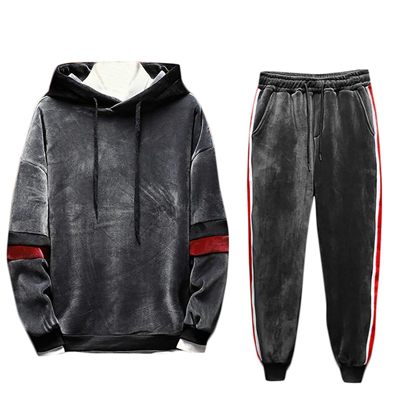 Zantt Mens Athletic Running Trouser Sport Sweatpant Zipper Pocket Two-Tone Jogger Pants