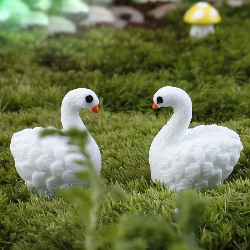 №cute Swan Set Miniatures Miniatures Fairy Garden