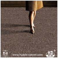 Commercial Removable Carpet Tiles 50X50 with Customized Rubber Backing