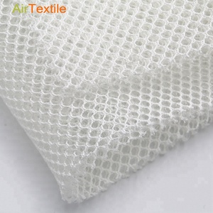 White 3d air spacer mesh fabric with polyester material