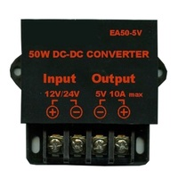 dc dc step down converter 12 volt to 5 volt 24v to 5v 10A high efficiency LED car screen power supply