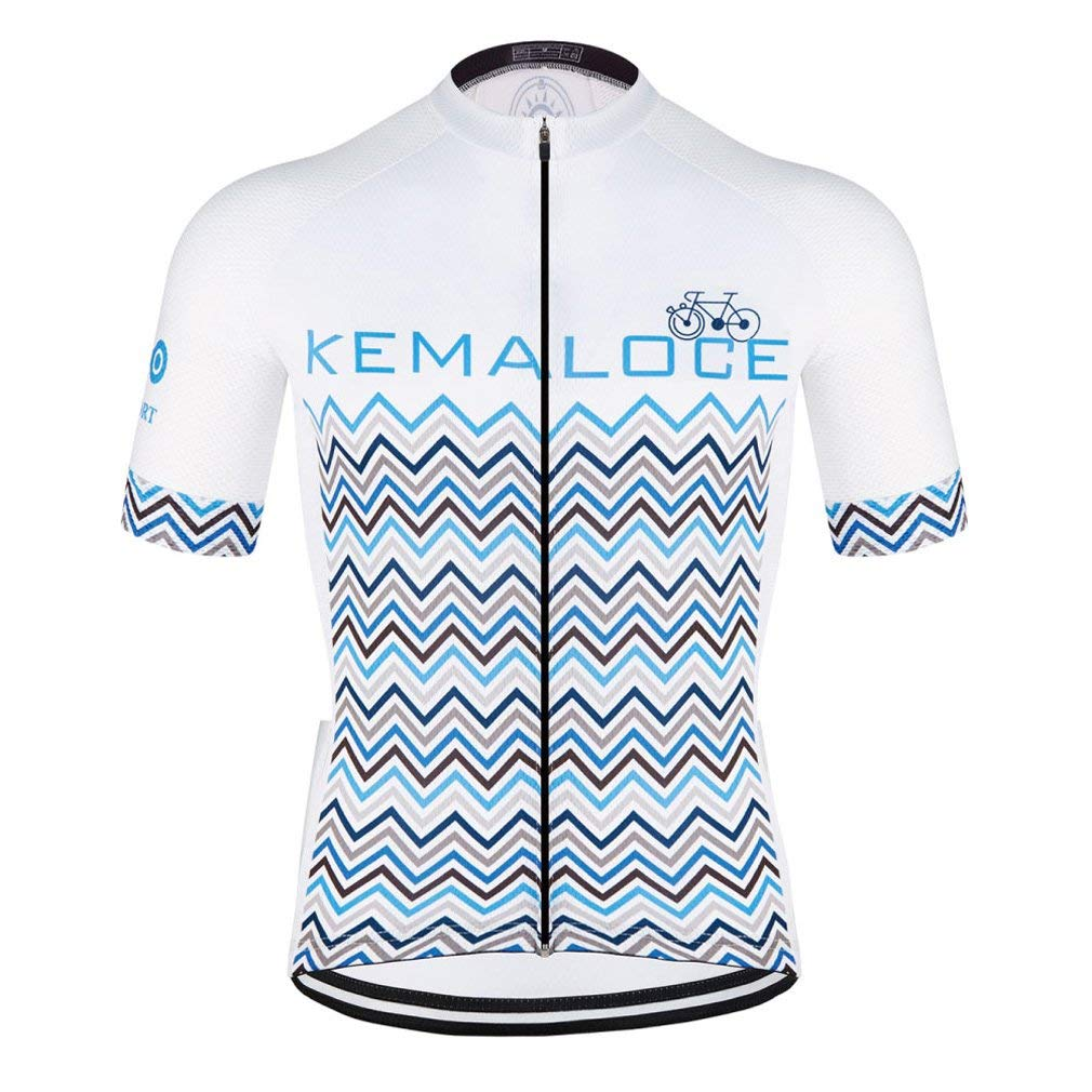 Nawing Cycling Jersey Short Sleeve Classical Team Quick Dry Bike Bicycle Clothing Shirt